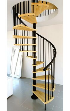 Gamia Wood Spiral Staircase 1200mm Black > Wooden spiral staircase range > Home Page > Spiral Stairs Direct