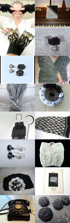 .Beautiful in black and white by Cristina on Etsy--Pinned with TreasuryPin.com #CristinaMyCrochet