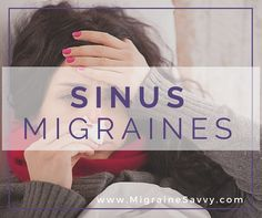 Sinusitis is from swelling of the tissues that line the sinuses. Your sinuses are usually filled with air, but they can become congested and filled with fluid. This pain is similar to a migraine. Sinus migraine. Click here to find what works.
