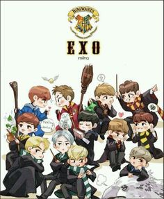 OMG EXO + HOGWARTS = perfection!!<<<i didn't know I needed this but holy crap