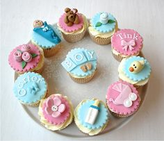 New Baby Cupcakes www.ladyberrycupcakes.co.uk