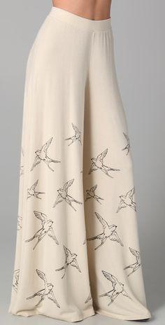 Jersey wide leg pants $123