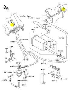 Wiring Diagram of a 1995 Kawasaki KLR 650 Motorcycle