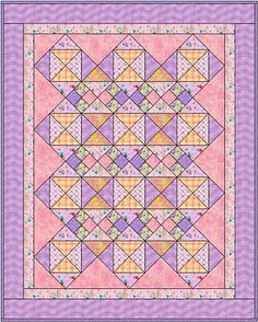 quilting patterns | ... Quilt Pattern, In the Pinks Baby Quilt, Designed in Electric Quilt v6