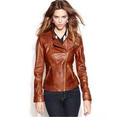 Best Womens Brown Stylish #LeatherJacket