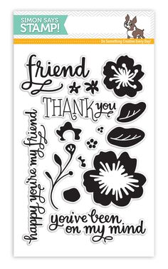 SImon Says Clear Stamps FLOWERS ON MY MIND sss101501 * zoom image