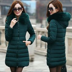 Womens Winter Jackets And Coats Thick Warm Hooded Down Cotton Padded Parkas For Women's Winter Jacket Female Manteau Femme