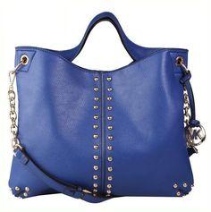 http://www.bonanza.com/listings/Worldwide-Free-Shipping-Michael-Kors-Chain-And-Rivet-Astor-Bag-Blue/174434767