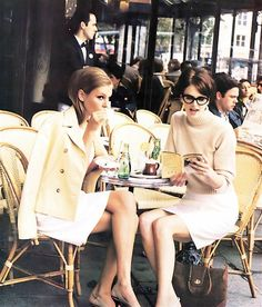 tea time, fashion, friends, style, lunches, girlfriend, coffee, parisian chic, french chic