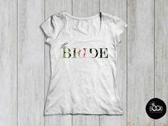 Tropic T-Shirt, Hochzeit, JGA | Typo, Floral T Shirts For Women, Bride, Clothes, Tops, Design, Fashion, Wedding, Wedding Bride, Outfits