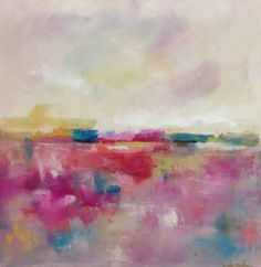 Pink Abstract Seascape/ Landscape Painting by lindadonohue on Etsy, $265.00