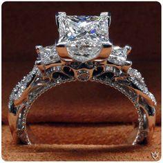 Verragio 3-Stone Princess Cut Diamond Ring