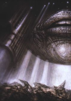 Hyperspace II - by H.R. Giger, 1972