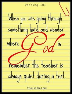 when God is quiet