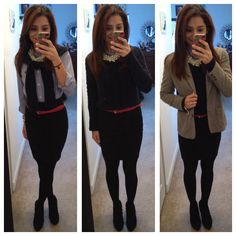 Office outfit, winter style