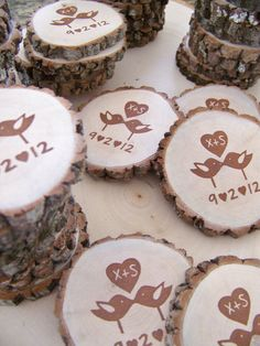 Save The Date Magnets Custom Love Birds   25 by MonkeysOnTheRoof, $55.25