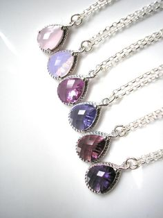 OMBRE BRIDESMAIDS! Bridesmaid Jewelry  Bridesmaid Set Of 6 Set by CrystalPearlJewelry