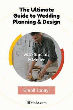 Learn to Become a Wedding Planner and Designer. Learn everything you need to know about wedding planning, event design, floral design, and building a business from industry leader Sinclair & Moore. Building A Business, Plan Design, Bridesmaid Gifts, Event Design, Wedding Accessories, Need To Know, Wedding Ceremony, Wedding Planner, Floral Design