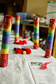 Views From My Window: Craft: Rainbow Shakers Homemade Musical Instruments, Art Projects, Projects To Try, Crafts For Kids, Arts And Crafts, Paper Towel Rolls, Rainbow Theme, Music And Movement, Music For Kids