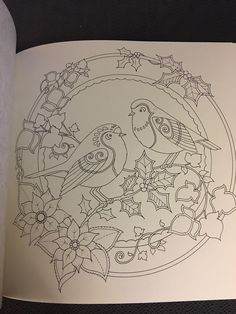 Johanna's Christmas: A Festive Coloring Book for Adults Bird Embroidery, Hand Embroidery Designs, Embroidery Patterns, Madhubani Art, Madhubani Painting, Pottery Painting, Fabric Painting, Indian Traditional Paintings, Pichwai Paintings