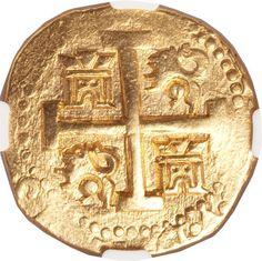Felipe V gold cob 8 Escudos 1733N Lima