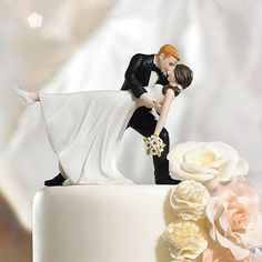 """""""A Romantic Dip"""" Dancing Couple Cake Topper by Beau-coup"""