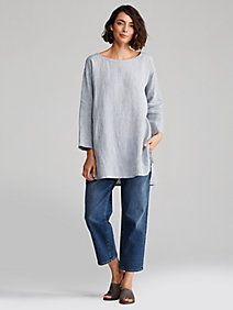 Shop by size for women's fashion from EILEEN FISHER. All our clothes for women are carefully crafted to fit and flatter. Mode Outfits, Casual Outfits, Fashion Outfits, Womens Fashion, Mode Style, Style Me, Mode Monochrome, Mode Jeans, Look Fashion