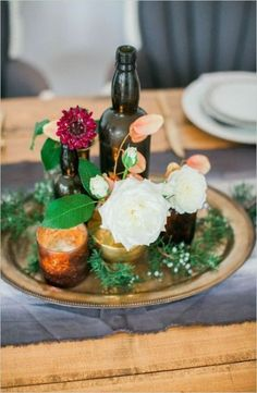 Floral Wedding Centerpieces Planning and Tips - Love It All Candle Wedding Centerpieces, Flower Centerpieces, Wedding Decorations, Centerpiece Ideas, Red Fall Weddings, Winter Wedding Flowers, Wedding Flower Arrangements, Floral Arrangements, Trendy Wedding