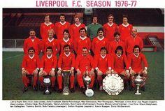 Liverpool de Inglaterra, Campeón de la Champions League, temporada 1976-1977 tras vencer en la final en el estadio Olímpico de Roma al Borussia Monchengladbach de Alemania 3 a 1. Fueron semifinalistas el Dinamo de Kiev de Ucrania y el zurich de Suiza.