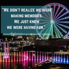 Making memories at The Island in Pigeon Forge