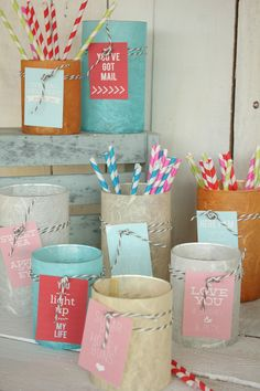 Hand made candle holders or pretty storage jars