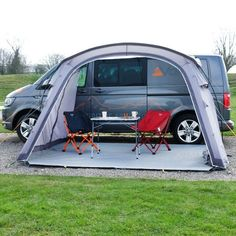 VW Campervan Awnings - Drive-Away & Sun Canopy Vw Transporter Campervan, Vw Transporter Conversions, Camper Conversion, Campervan Awnings, Campervan Interior, Car Awnings, Campervan Ideas, Vw California Camper, T6 California