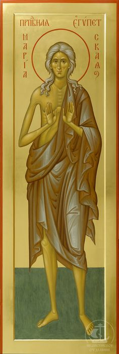 Saint Mary of Egypt Religious Images, Religious Art, St Mary Of Egypt, Catholic Pictures, Saints And Sinners, Byzantine Icons, Church Building, Orthodox Icons, Sacred Art