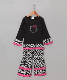 Take a look at this Black Cat Top & Pants - Infant, Toddler & Girls by AnnLoren on #zulily today!