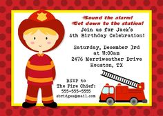 1000 Images About Fireman Birthday Party On Pinterest