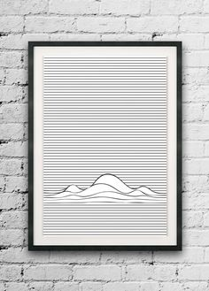 Minimal Lines Print, Abstract Printable, Line Art, Line Wave Print, Wall Decor, Op Art, Optic Illusion, Minimalist Lines, Abstract Line Art by ErhicoDesign on Etsy https://www.etsy.com/listing/248724189/minimal-lines-print-abstract-printable