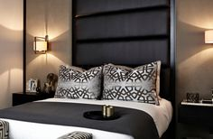 Master Bedroom - Bespoke Headboard Wall - Wall Lights
