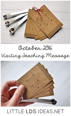 October 2016 LDS Visiting Teaching printable. Have you gone Visiting Teaching this month? If not, here is a cute gift idea you could give to your sisters. Free Printable from Little LDS Ideas. via @https://www.pinterest.com/littleldsideas/