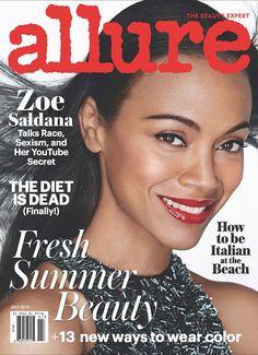 Zoe Saldana Allure Magazine 2016 #fashion #magazinecovers #beauty #zoesaldana #snobqueens