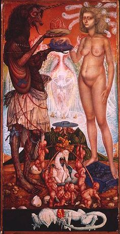 THE WEDDING OF THE UNICHORN - Ernst Fuchs