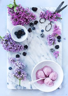 Blackberry ice cream | Flickr - Photo Sharing!
