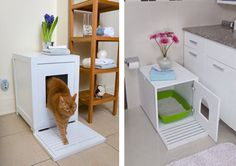 как спрятать кошачий туалет закрытый лоток для кошек