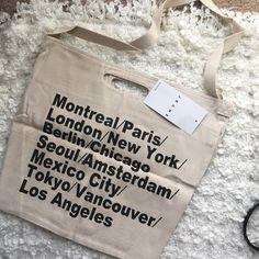 AA NWT Bull denim woven cotton city tote AA NWT classic Bull denim woven cotton city tote NWT one size  retail:42 color:white ship within 1-2days. price is firm ⛔️no trade⛔️ American Apparel Bags Totes