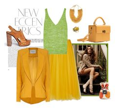 """""""Egg yolk"""" by juliabachmann ❤ liked on Polyvore featuring Rochas, Missoni, Chloé, Rosantica, Hédara and Hebe Studio"""
