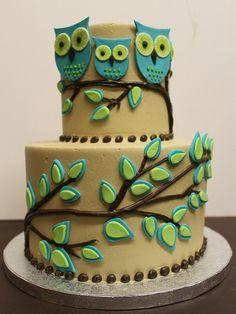 Owl cake I want! Owl Cakes, Cupcake Cakes, Football Cakes For Boys, Beautiful Cakes, Amazing Cakes, Owl Cake Birthday, 40th Birthday, Cricut Cake, Cake Machine