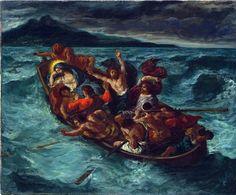 Eugène Delacroix. Christ calming the storm, 1853 ca. Oil on canvas, cm. 50,8 X 61. The Metropolitan Museum of Art, New York City