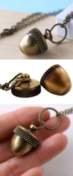 Secret Acorn Locket Necklace <3