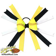 Softball Hair Bows - Handmade from actual softball covers Softball Hair Bows, Cheer Bows, Softball Hairstyles, Different Font Styles, Making Hair Bows, Little Girl Hairstyles, Black Ribbon, Ribbon Colors, How To Make Bows