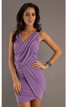 V-Neck Ruched Party Dress AS-I445801A1