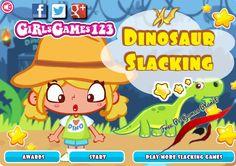 play-dinosaur-slacking-girl-games